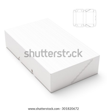 Retail Box with Zipper Seal and Blueprint Template