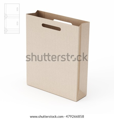 Retail paper bag blueprint template 3 d stock illustration 479266858 retail paper bag with blueprint template 3d rendering malvernweather Image collections