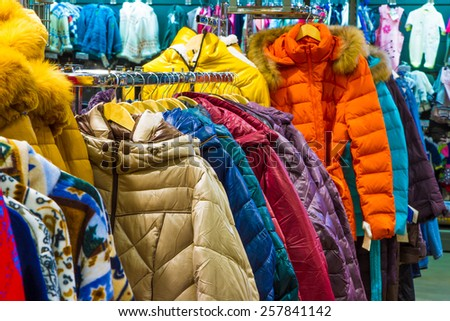 Retail Shopping Sale. Clothing in Fashion Store