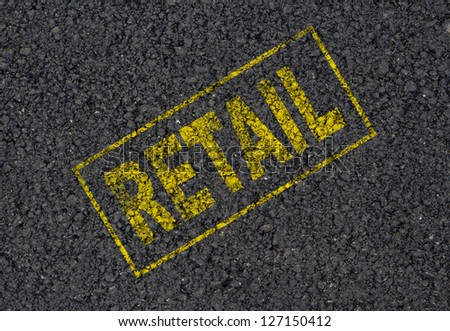 Retail sign background