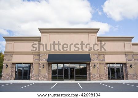 Retail storefront. - stock photo