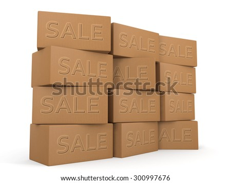 Retails season sales boxes stacked promotion shopping concept and design - stock photo