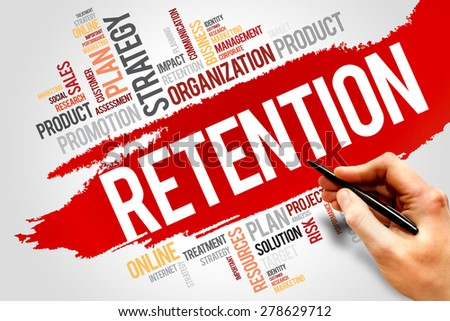 RETENTION word cloud, business concept - stock photo