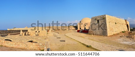 Rethymno city Greece Fortezza fortress Mosque landmark architecture