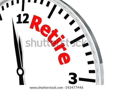Retire clock - stock photo