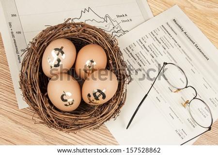 Retirement nest egg - stock photo