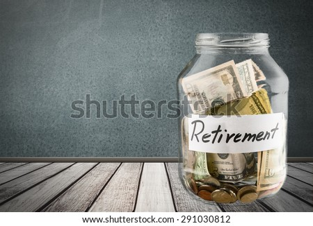 Retirement, Pension, Currency. - stock photo