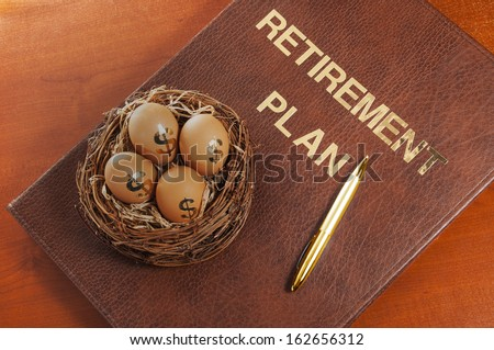 Retirement plan - stock photo