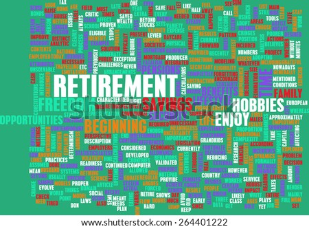 Retirement Planning as a Abstract Concept - stock photo