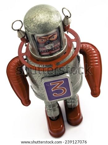 reto robot toy  - stock photo