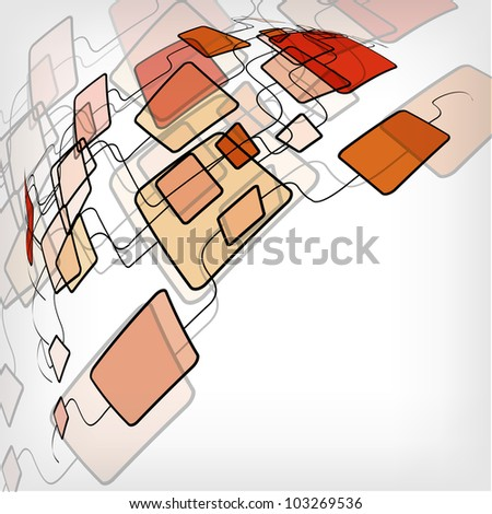 Retro Abstract Design Colorful Square Template - jpg version - stock photo