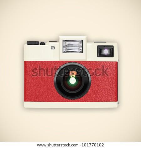 retro and vintage camera ,graphic design - stock photo
