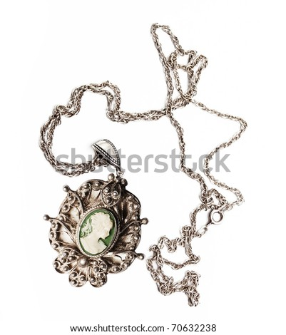 retro antiques pendant (isolated on a white)