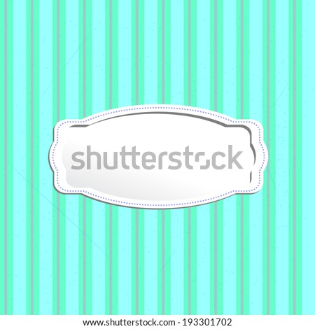 retro background with a rectangular frame; old pattern with a volume frame - stock photo