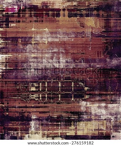 Retro background with grunge texture. With different color patterns: brown; gray; purple (violet); yellow (beige) - stock photo