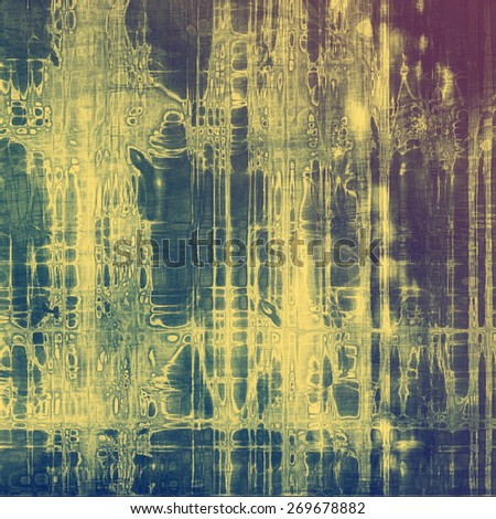 Retro background with grunge texture. With different color patterns: purple (violet); blue; yellow (beige) - stock photo