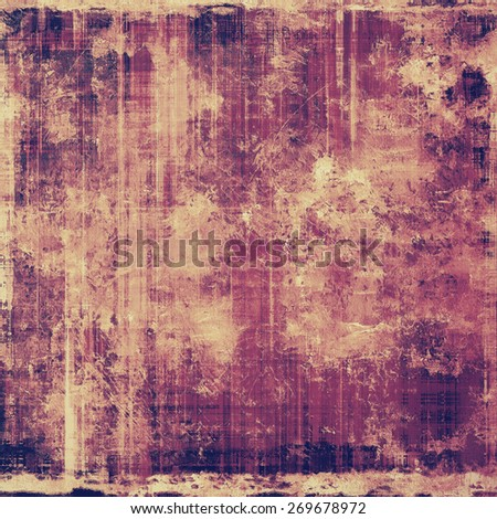 Retro background with grunge texture. With different color patterns: purple (violet); yellow (beige); pink - stock photo