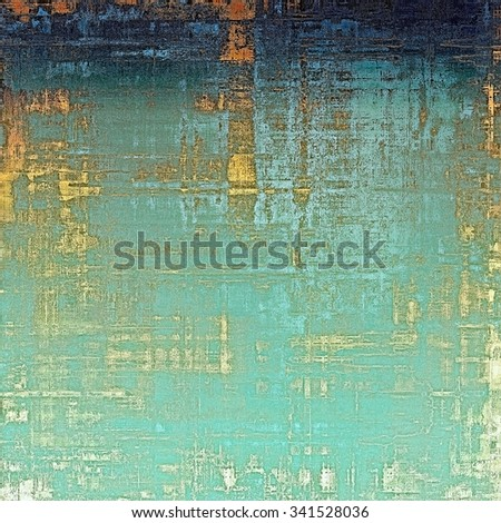 Retro background with grunge texture. With different color patterns: yellow (beige); blue; cyan; white - stock photo