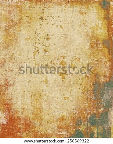 Retro background with old grunge texture. With different color patterns: yellow (beige); brown; red (orange); gray - stock photo