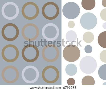 Retro blue and brown circles background