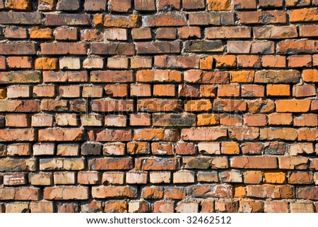Retro bricks wall background