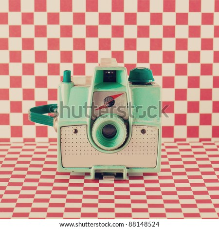 Retro Camera - stock photo