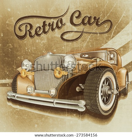 Retro car. - stock photo