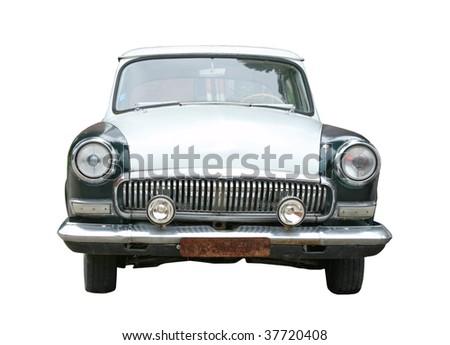 retro car isolated - stock photo