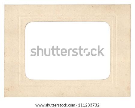 Retro cardboard photo frame - stock photo
