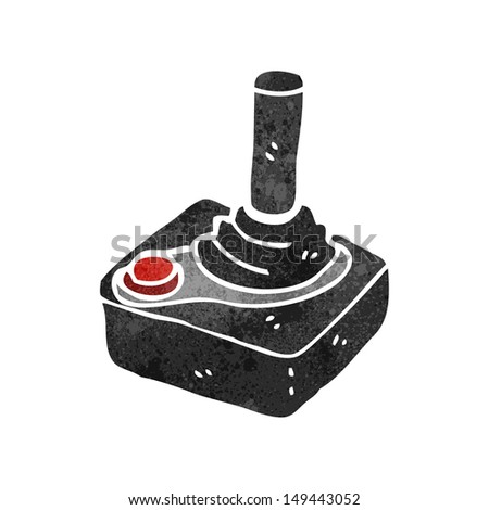 retro cartoon computer joystick - stock photo