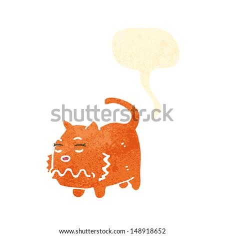 retro cartoon farting cat - stock photo