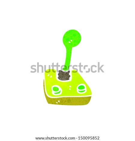 retro cartoon joystick - stock photo