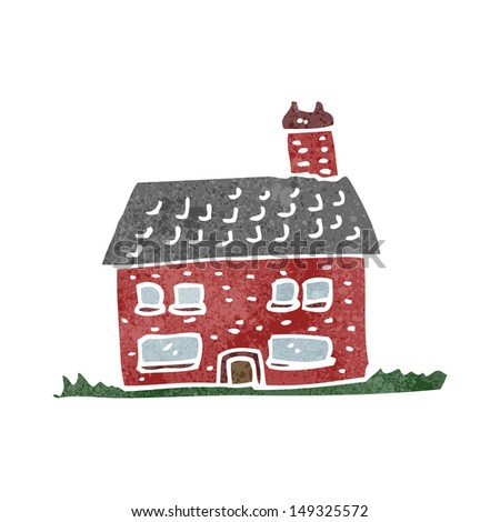 Retro Cartoon Little Old House Stock Illustration 149325572