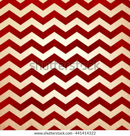 retro chevron background in red and white striped pattern - stock photo