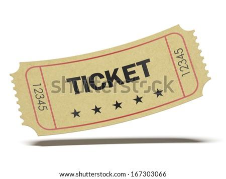 Retro cinema ticket - stock photo