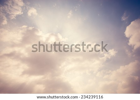 Retro cloud and sky. - stock photo