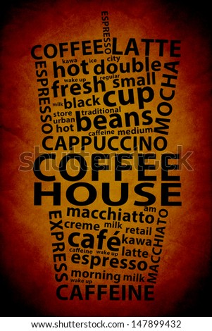 Retro Coffee Ad Background - stock photo