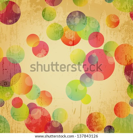 Retro Colorful Seamless Pattern Wallpaper Background - stock photo