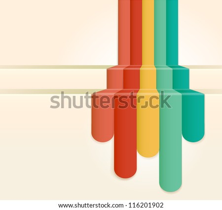 Retro Colour Abstract Background (jpg). Vector version also available - stock photo