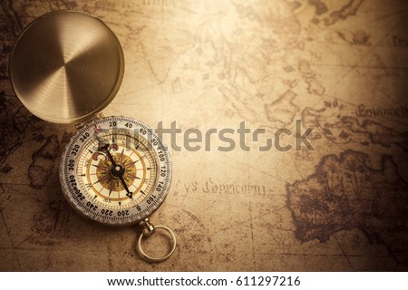 Compass Map Stock Images RoyaltyFree Images Vectors Shutterstock - Antiques us maps with compass