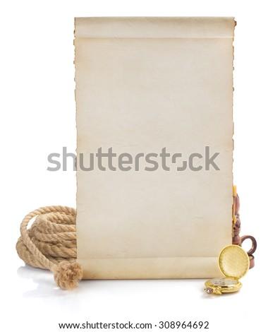 retro concept isolated on white background - stock photo