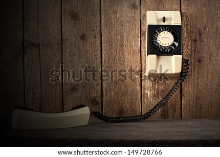 retro dark phone  - stock photo