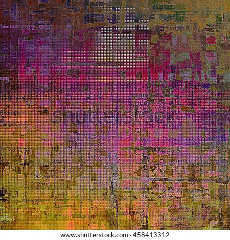 Retro design composition, grunge background or textured backdrop. With different color patterns: yellow (beige); brown; gray; red (orange); purple (violet); pink - stock photo