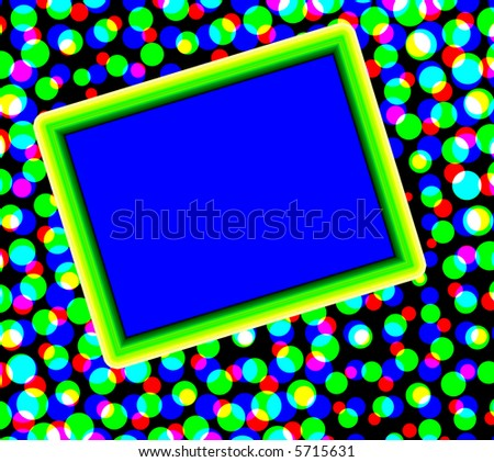 Retro dots with copyspace - stock photo