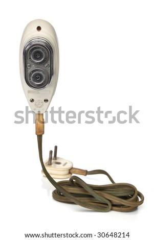 retro elctric razor, from my retro revival series - stock photo