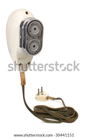 retro electric razor, from my retro revival series - stock photo