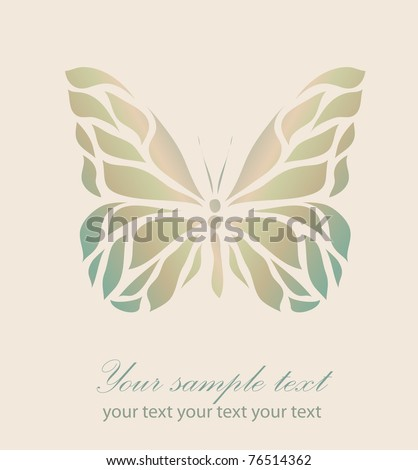Retro floral background with your text (raster version). As sign, symbol, tattoo, web, label, logo, emblem. - stock photo