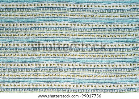 Retro floral tablecloth texture - stock photo