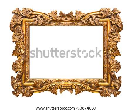 Retro frame isolated on white background - stock photo