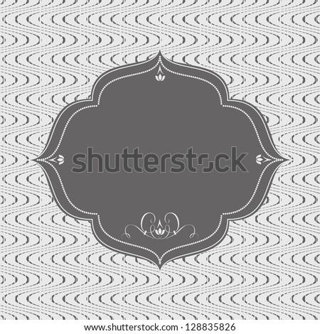 Retro frame on abstract seamless background. Raster version - stock photo